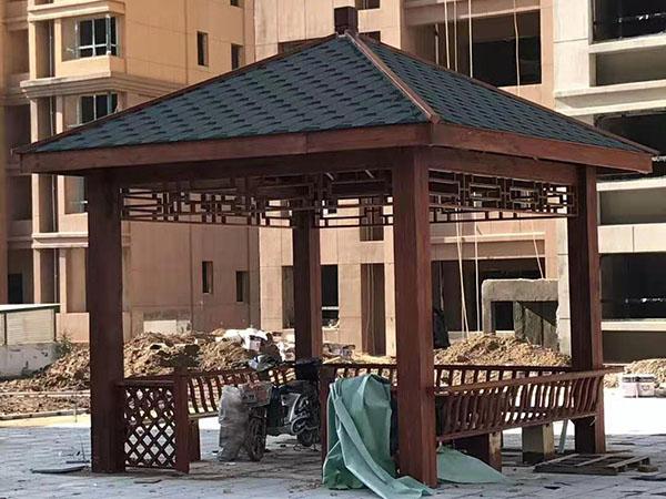 华天御园防腐木工程