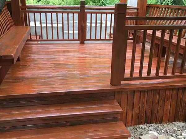 长清别墅区防腐木工程