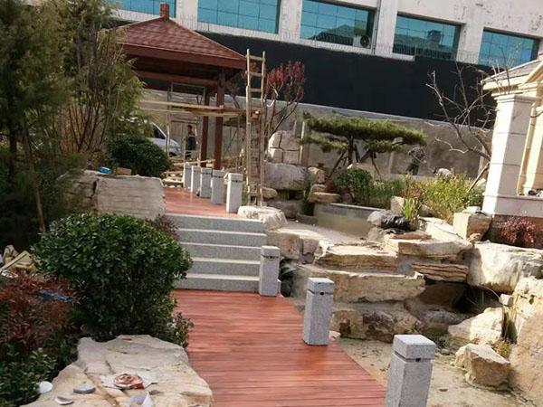 新湖绿园防腐木工程